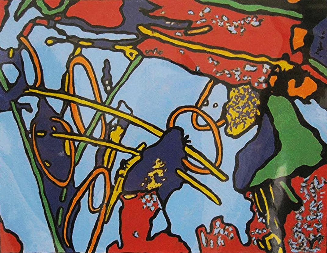 Marja Lianko,  Balancing Acts #11 , acrylic on paper, $450