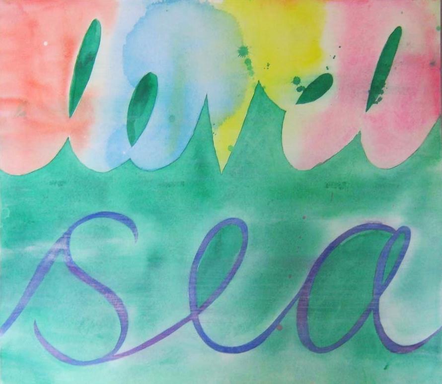 Monique Johannet,  Sea Level , gouache and acrylic on paper, $325