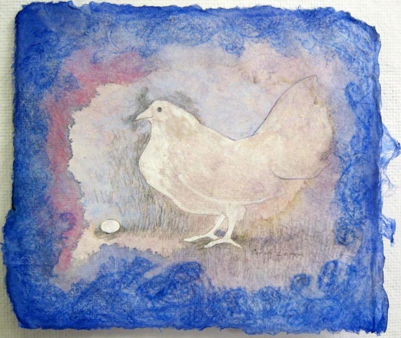 Sarah Leon,  Chicken , mixed media, $150