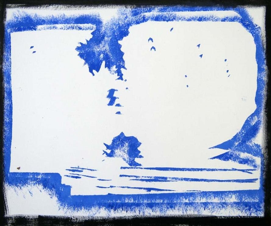 Liza Bingham,  Hedge Study , oil on paper, $150
