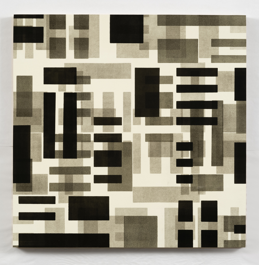 Here/Square Series II   2015, monotype mounted on panel, 28 x 28 in.
