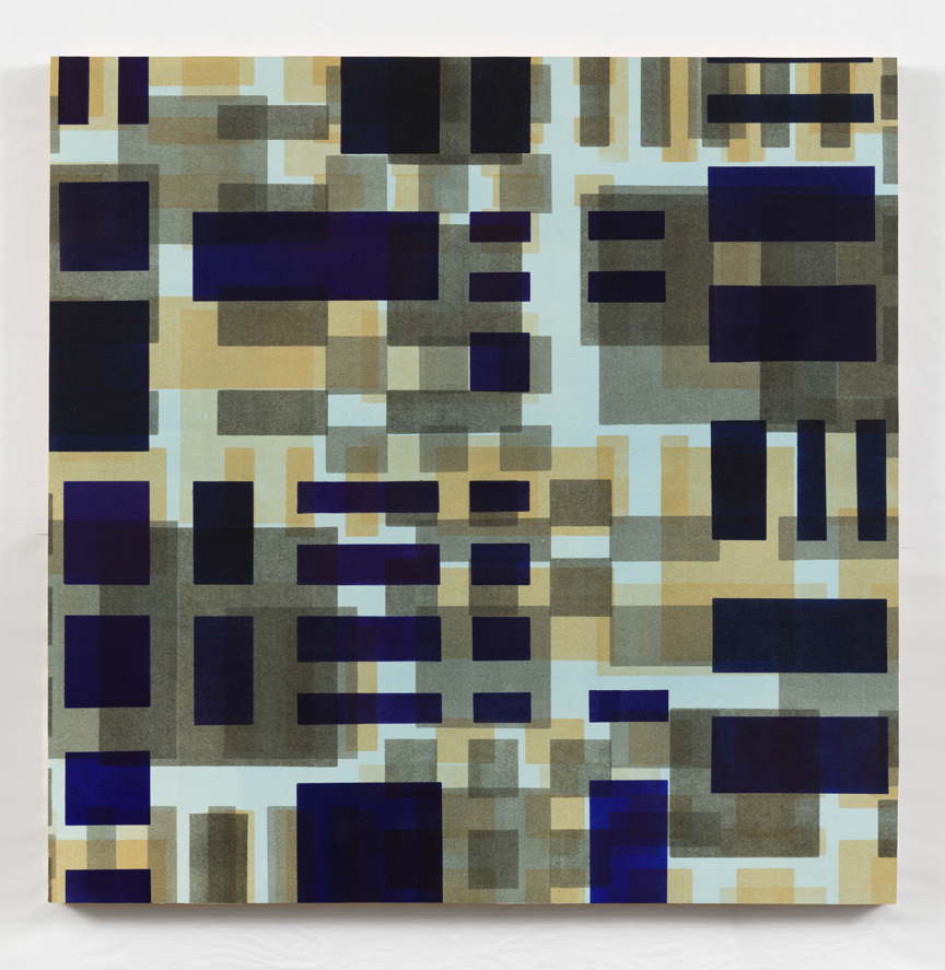 Here/Square Series VII    2015,  monotype mounted on panel, 28 x 28 in.