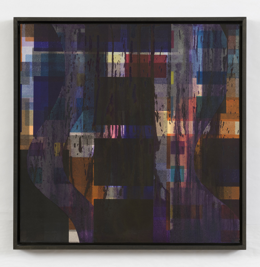 Shadow Series I   2014, mixed media/collage, mounted on panel, 16 x 16 in.