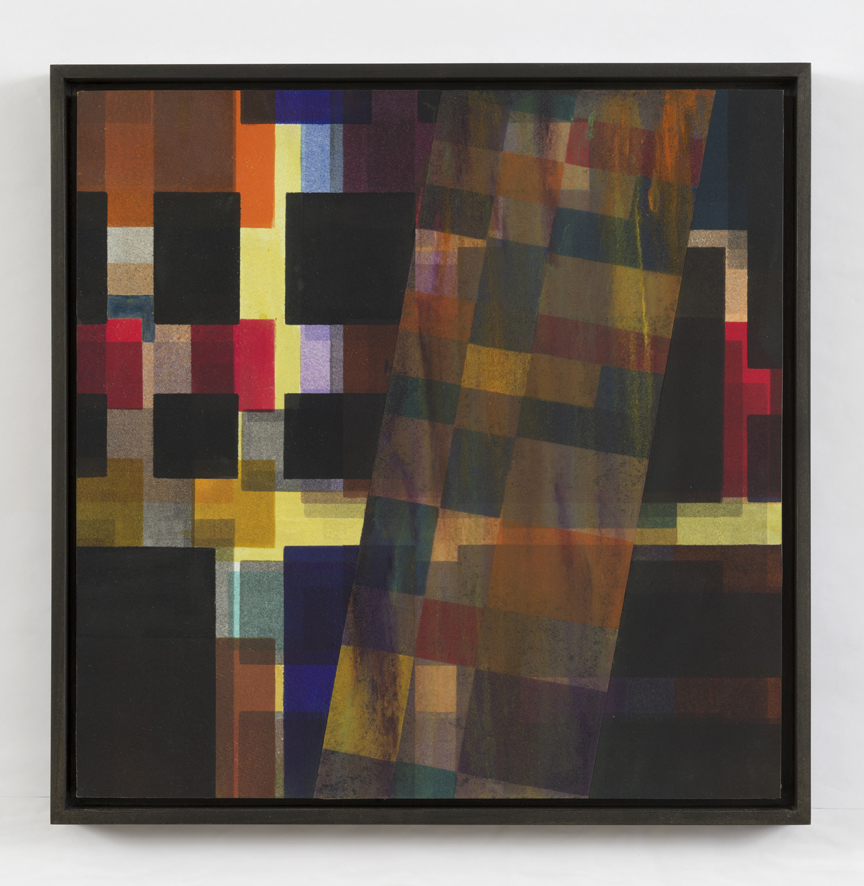 Shadow Series IV   2014, mixed media/collage, mounted on panel, 16 x 16 in.