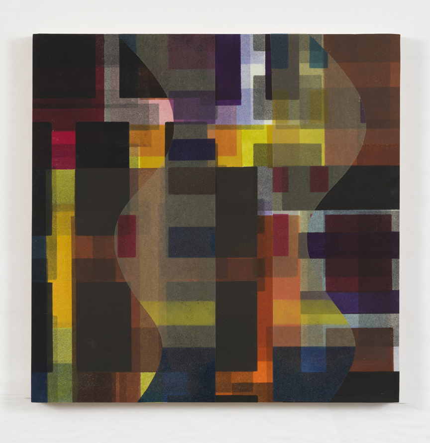 Shadow Series III   2014, mixed media/collage, mounted on panel, 16 x 16 in.