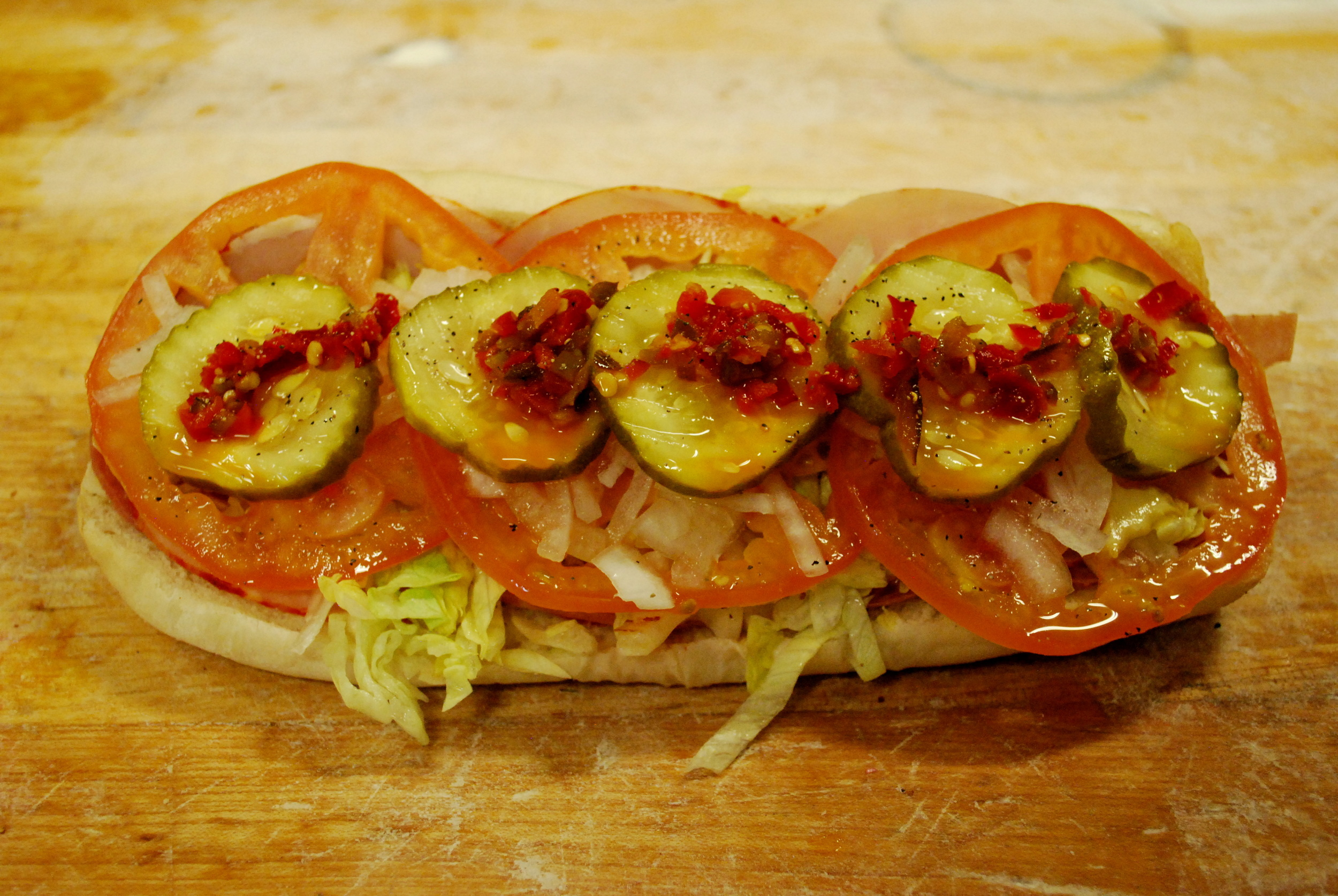 One of our signature sandwiches: The Italian Sandwich