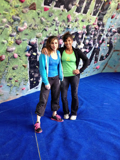 Alex and me after a day of training at The Climbing Works