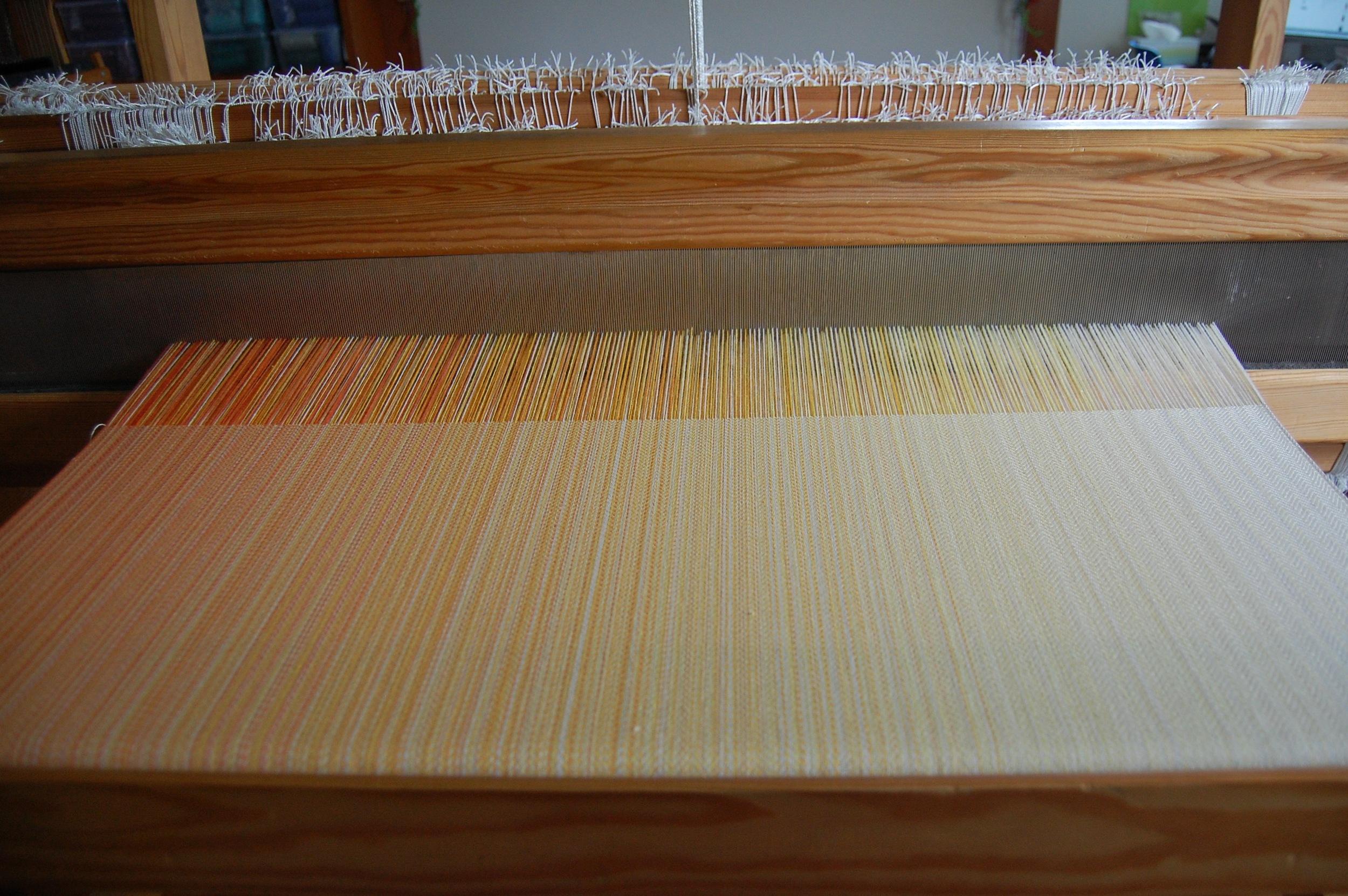 natural silk/cotton weft