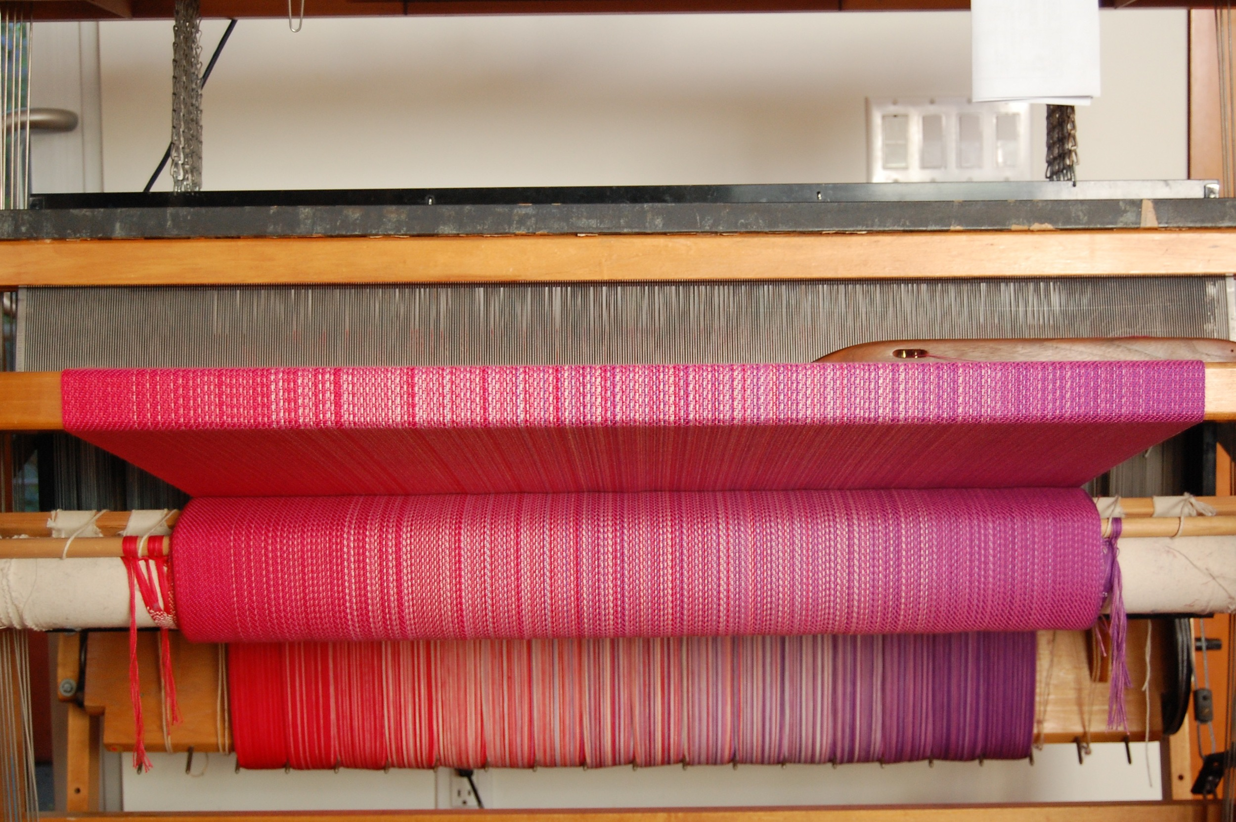 Hot Pink Egyptian Cotton weft