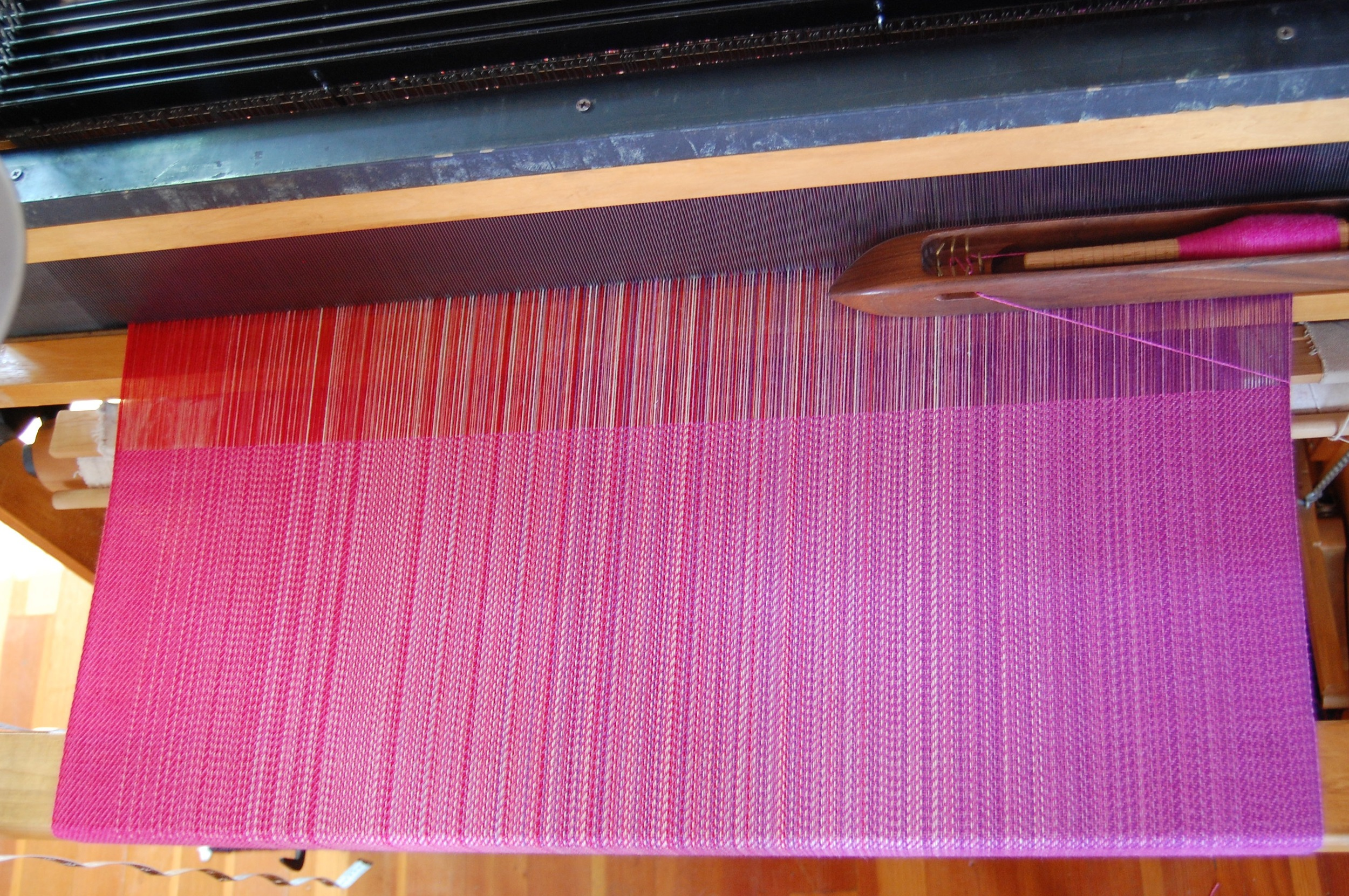 Fuchsia Merino/Silk weft