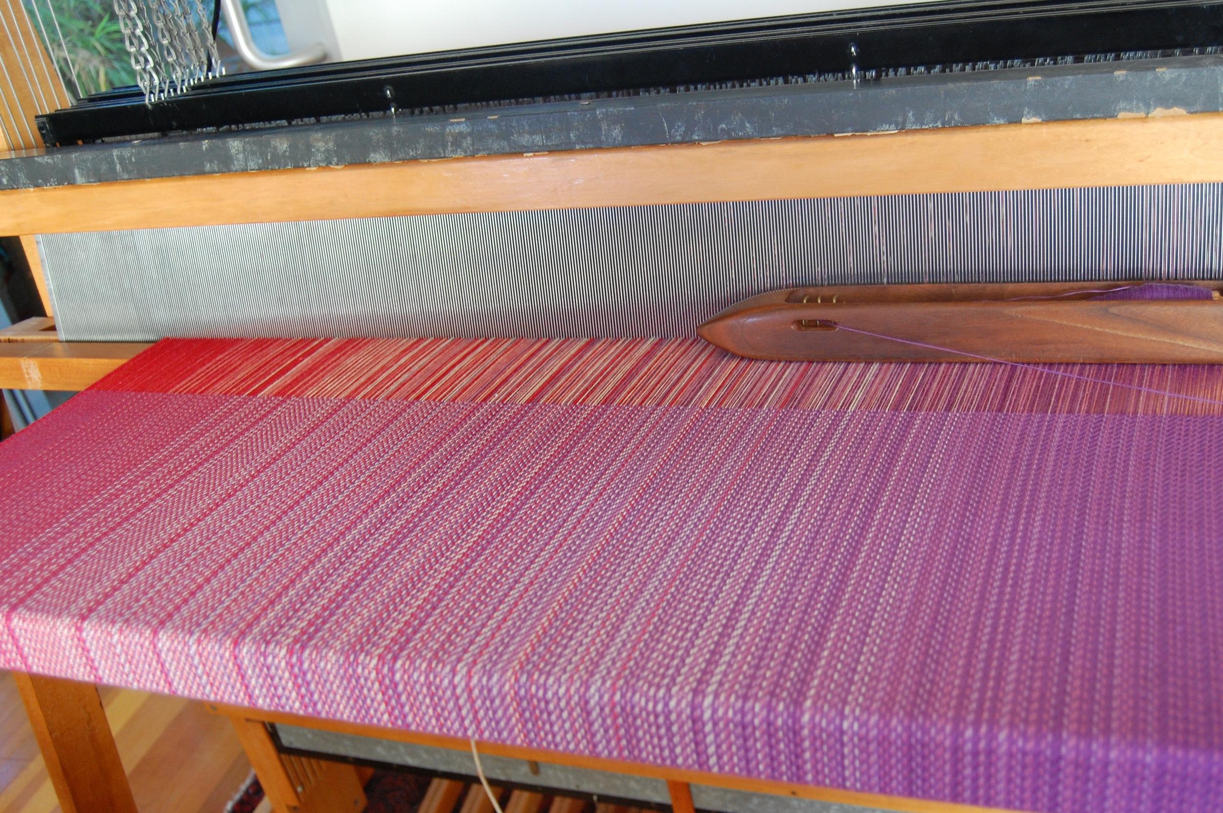 Purple Cotton weft