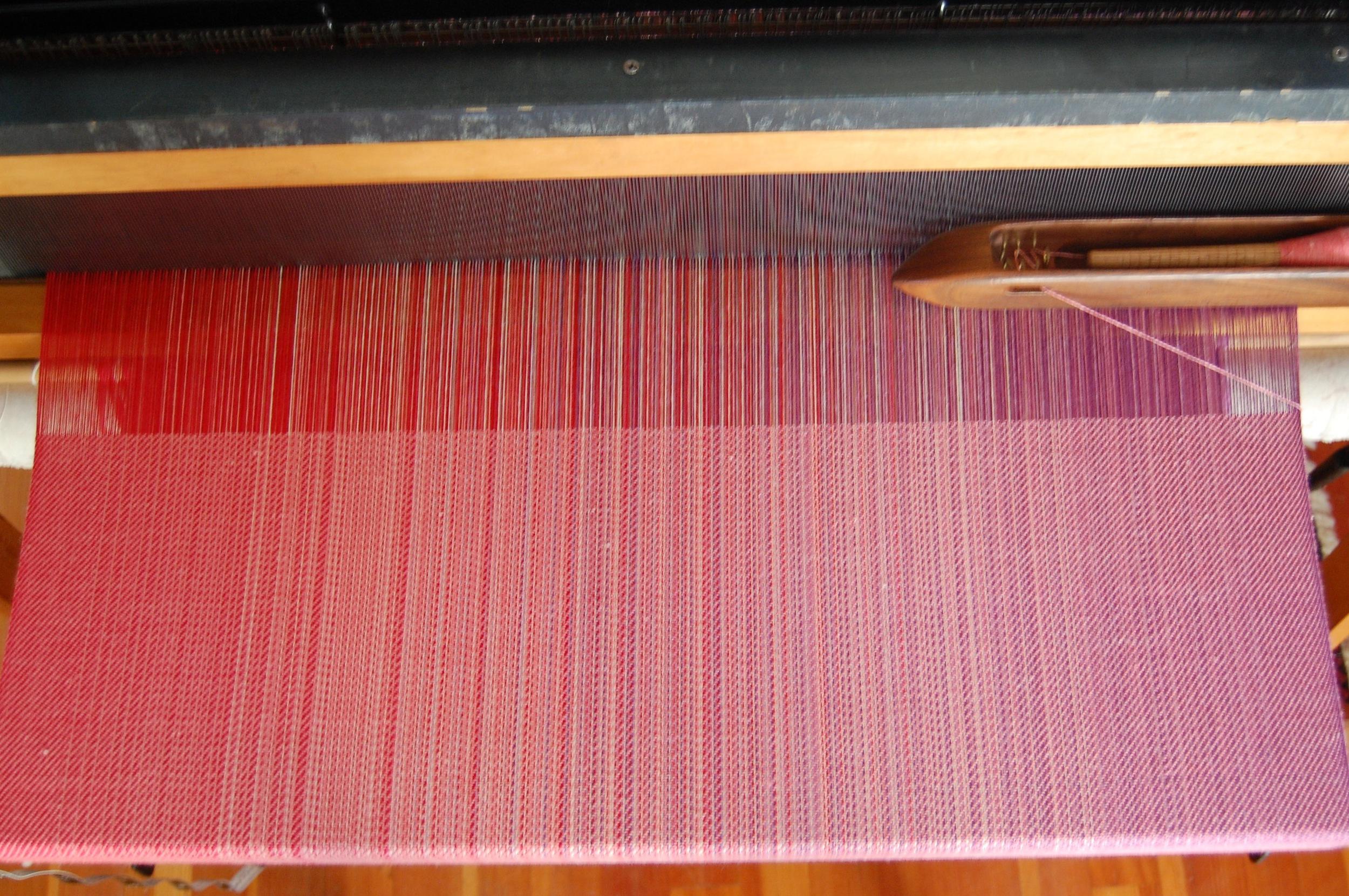 Coral Merino/Silk weft