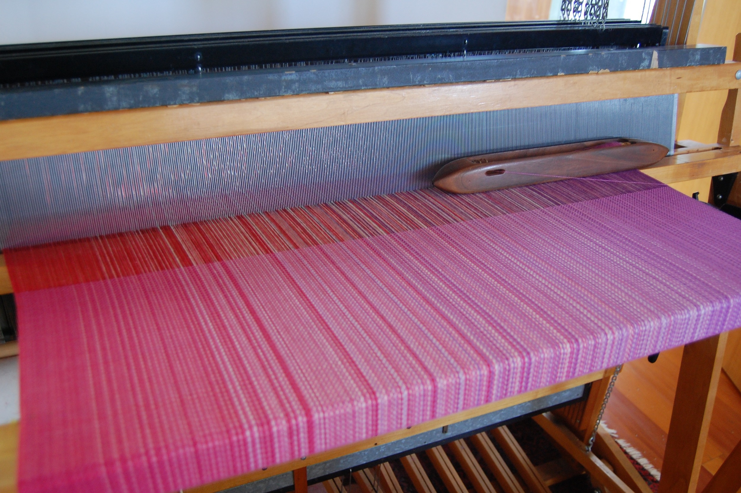 Mulberry hand-dyed silk/cotton weft