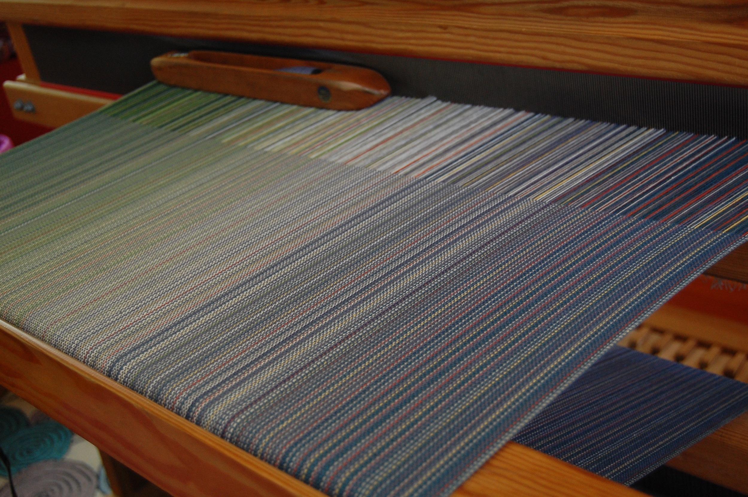 steel blue Egyptian cotton weft