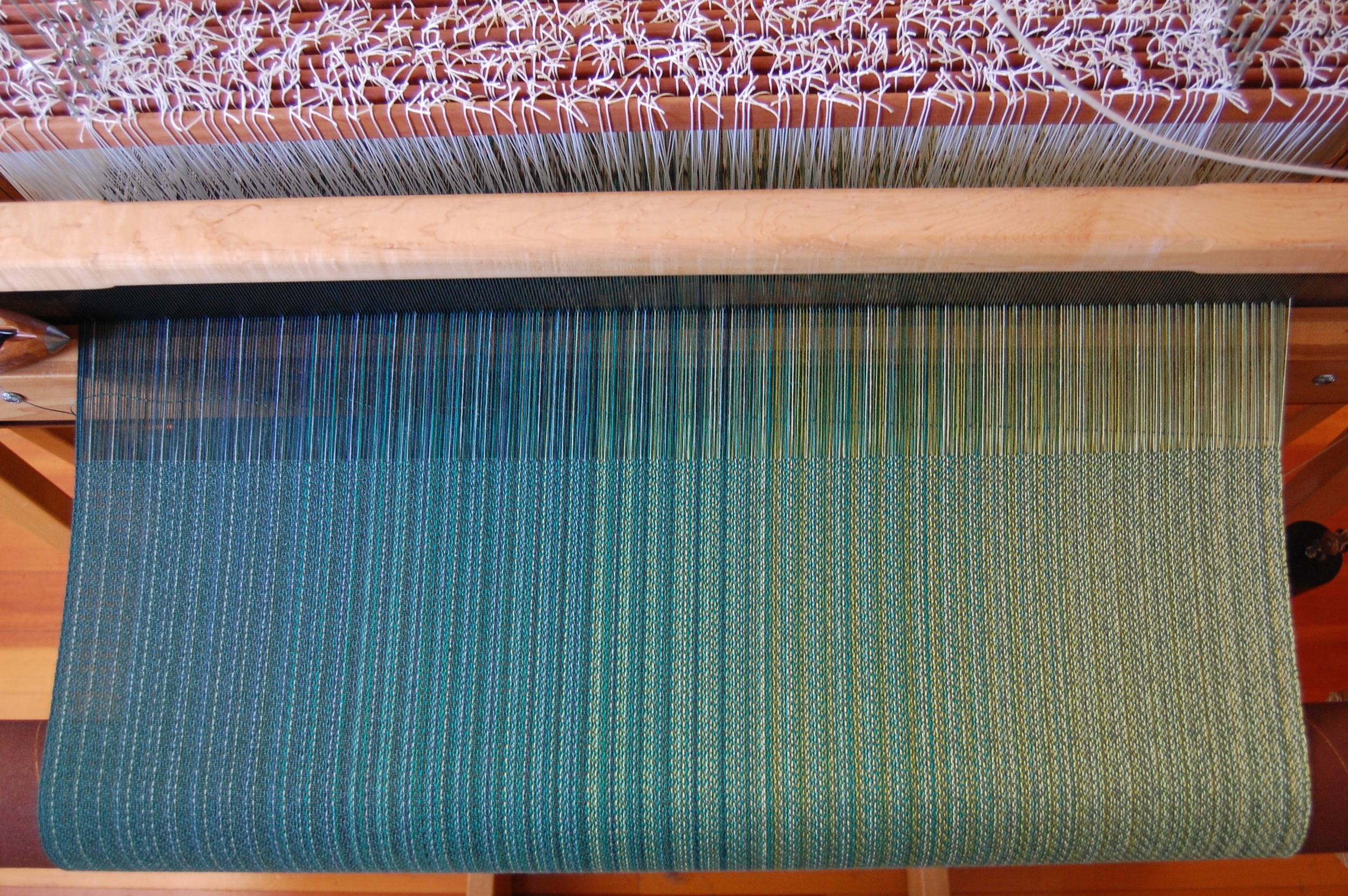Greenish-teal Egyptian cotton weft