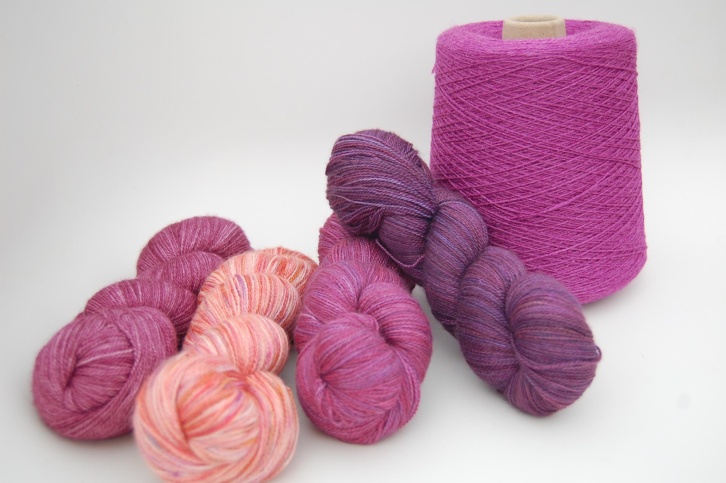 merino/silk wefts