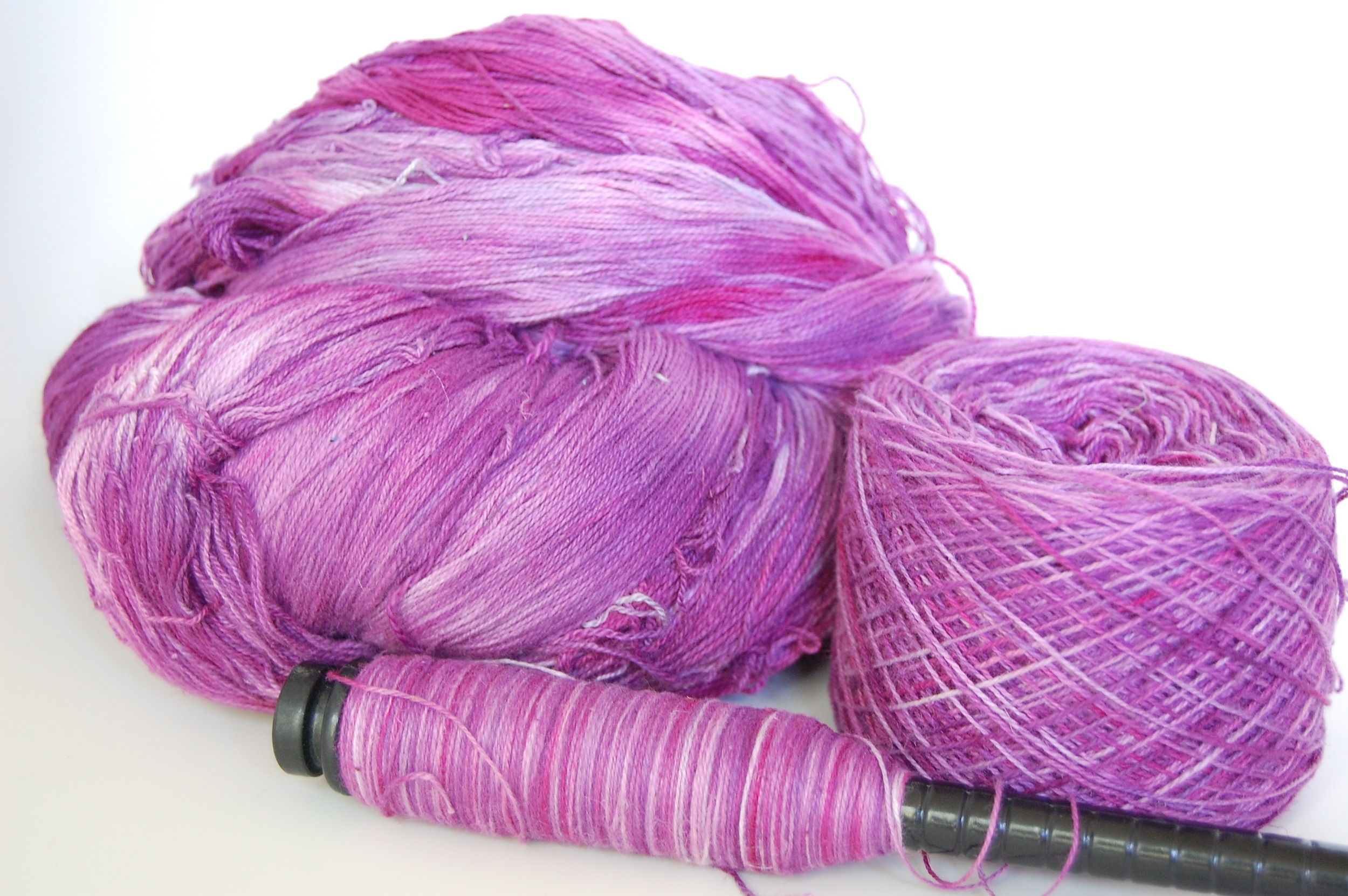 40% hemp/60% cotton in pinks and purples