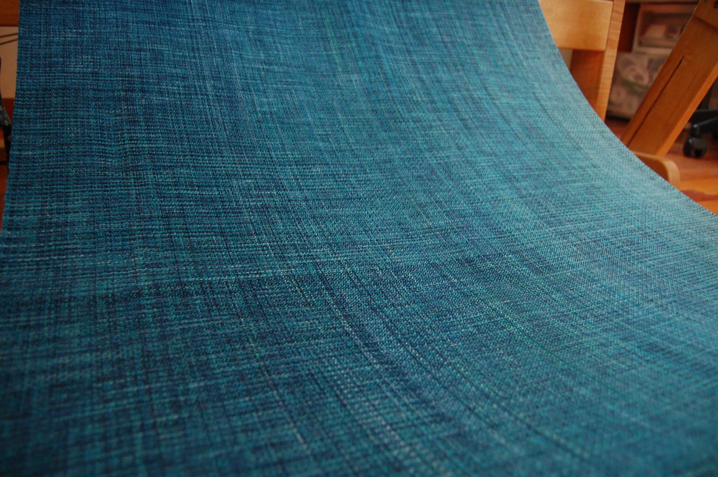 The weave - shown here with the first Mulberry silk weft