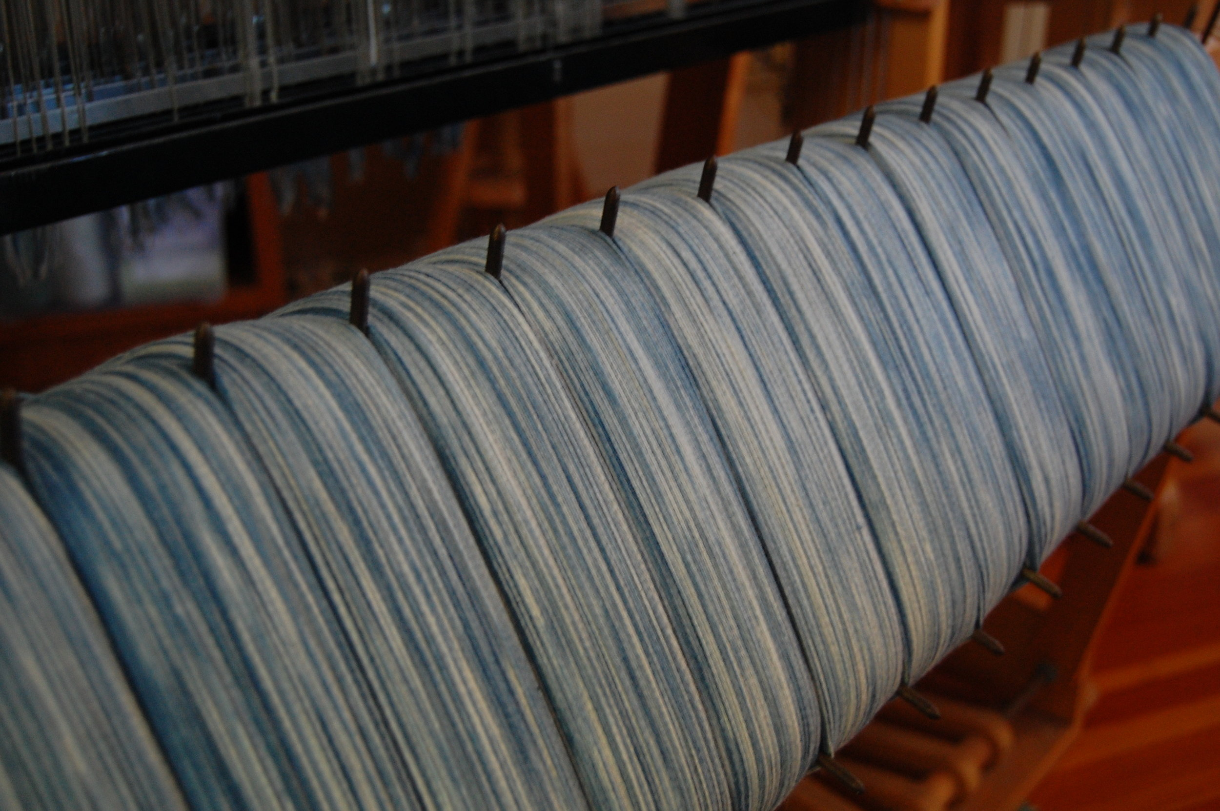 the warp on the loom