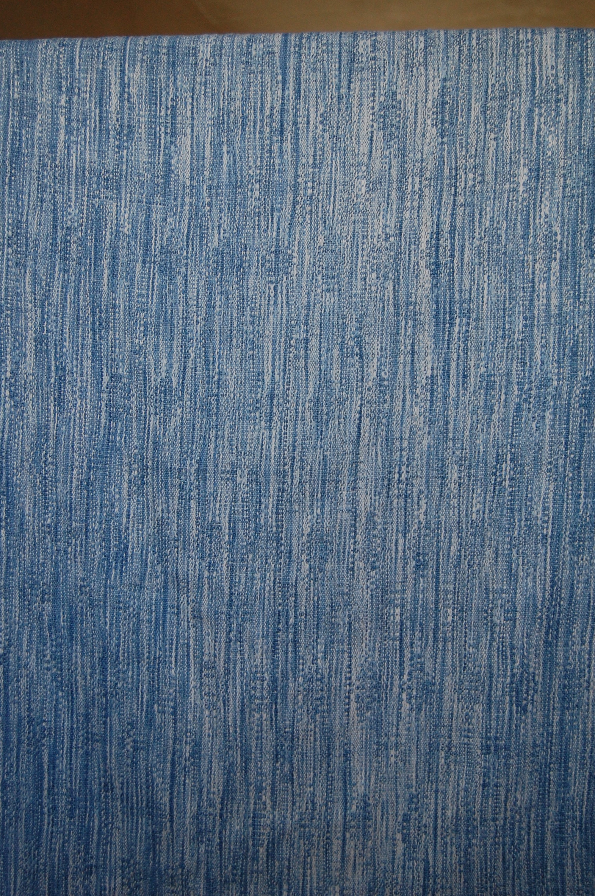 Indigo v.2 Blueprint with indigo-dyed silk/seacell weft 5.0 meters - shown here finished
