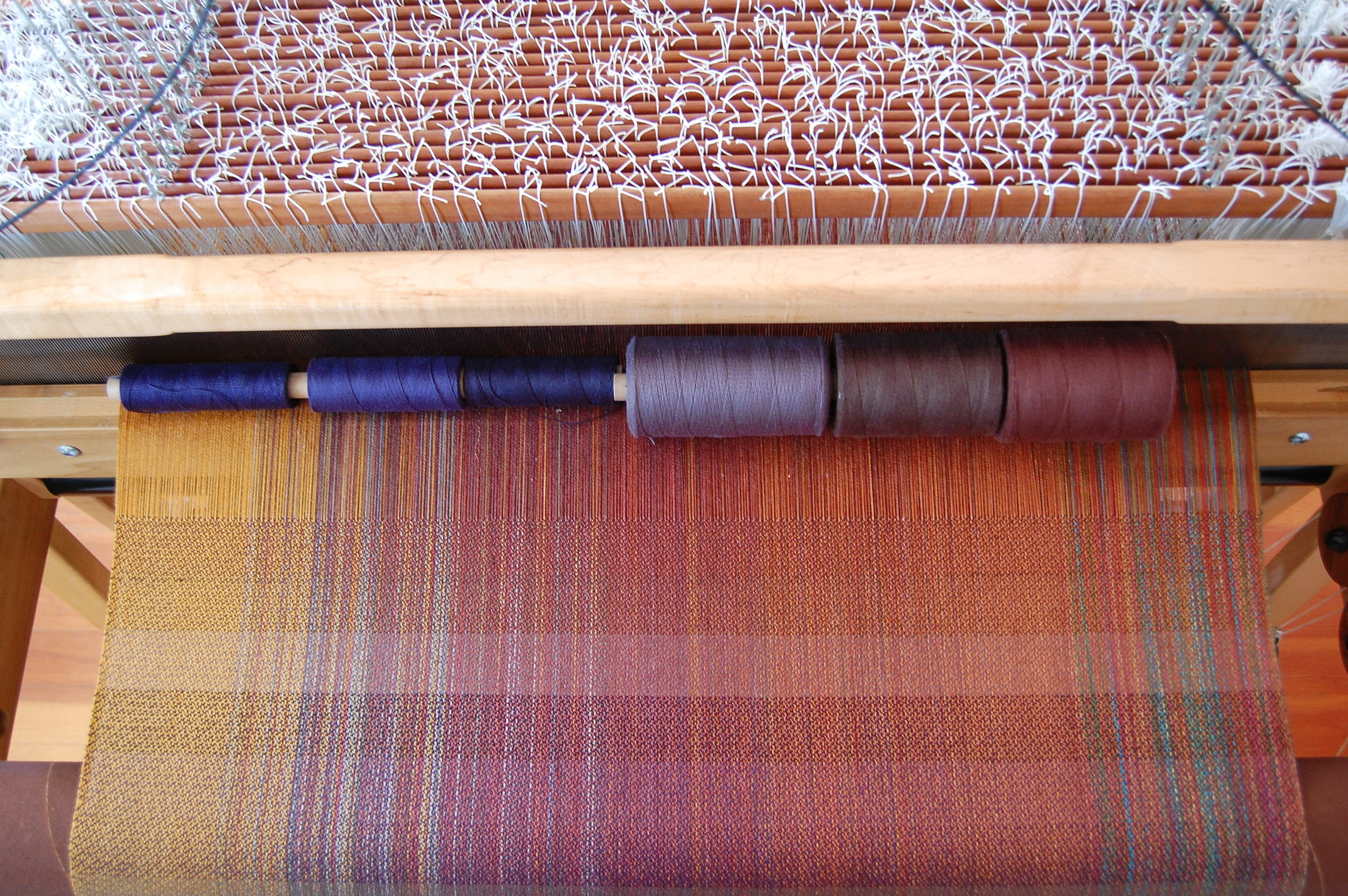 blue, grey and brown cottons