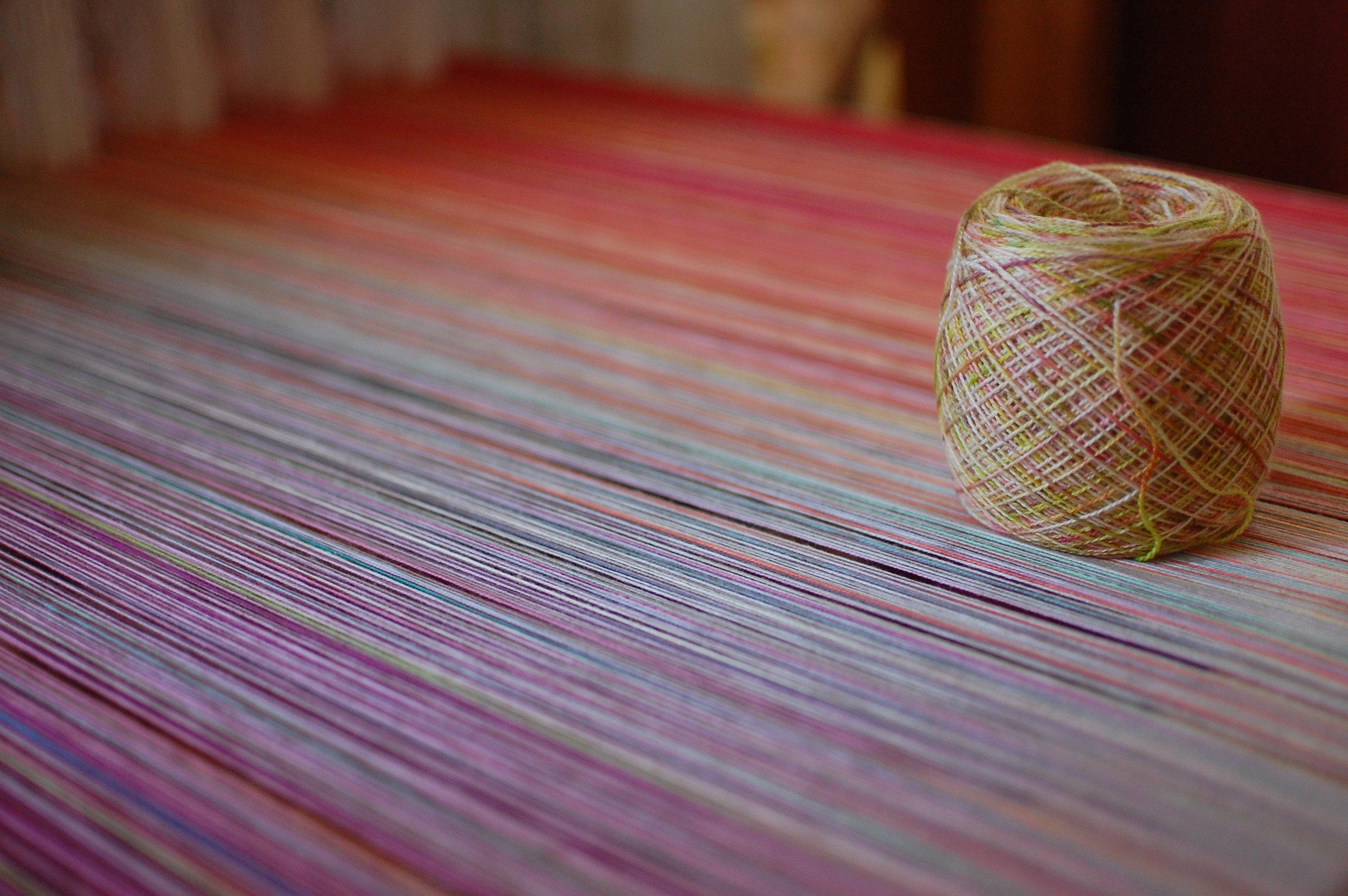 Phydeaux Designs Peach Blossoms 80% Superfine merino wool/20% silk