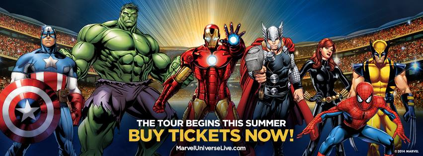 Marvel Universe Live Super Heroes Assemble. International tour 2014-2017.