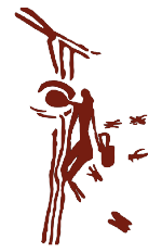 The honey seeking   Man of Bicorp      Arafla Cave at Bicorp   near Valencia, Bodyin.   6000BCE to 10,000BCE.