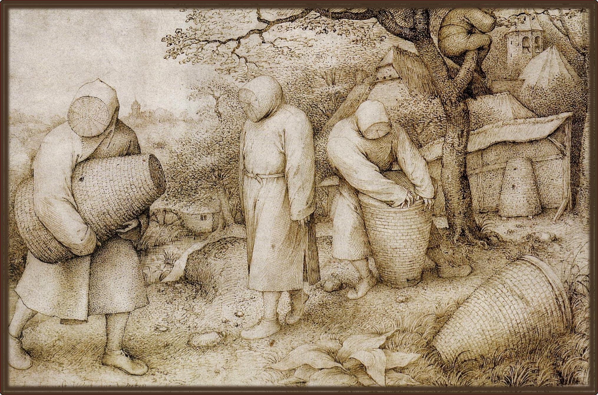 Pieter Bruegel the Elder, The Beekeepers and Birdnester.1568.fuzzedborder.png