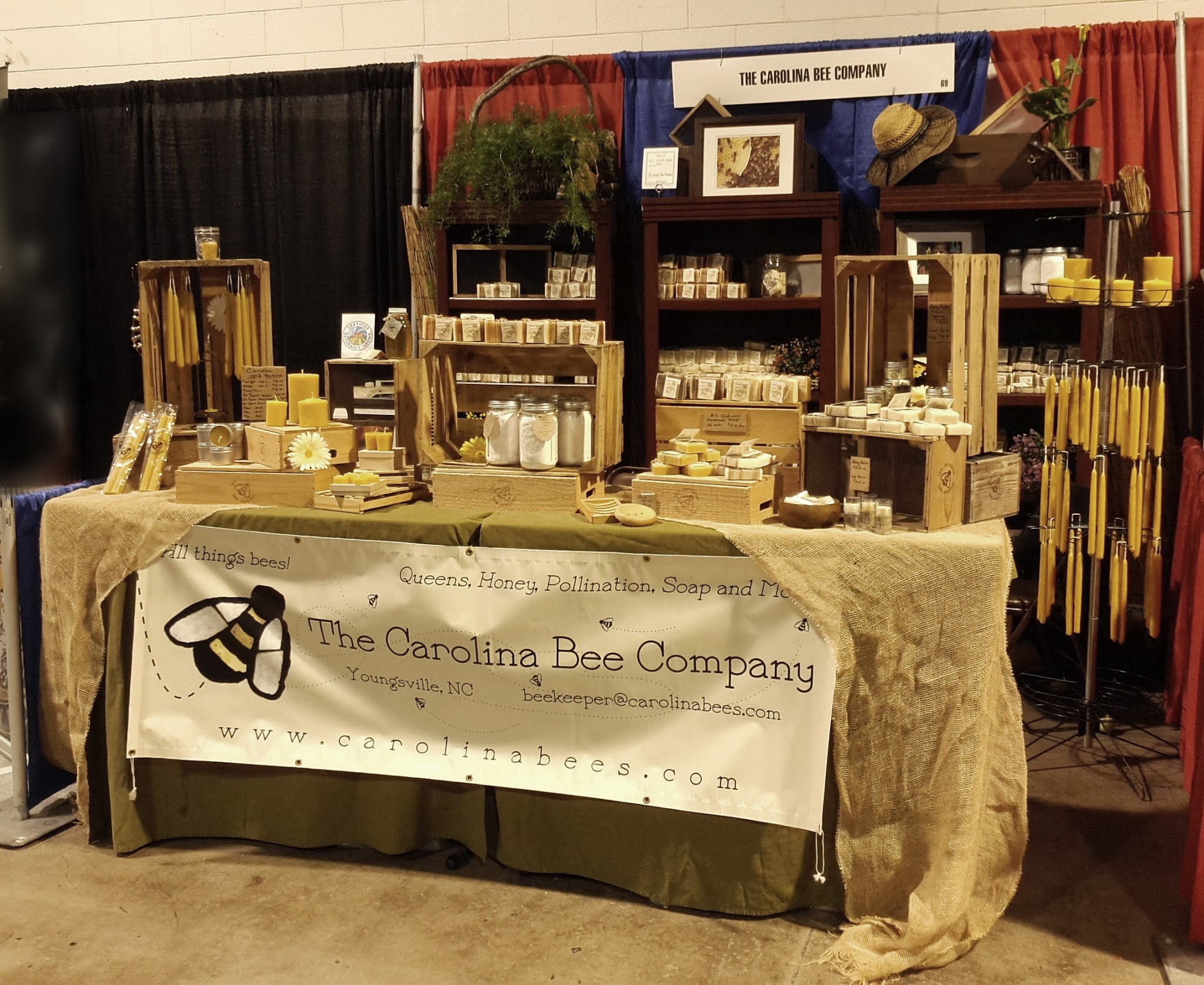 The Carolina Bee Company Store set up at the NC State Fair, 2013