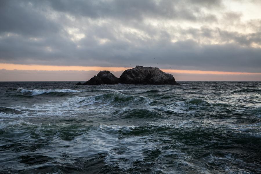 Seal Rocks from Sutro Baths in San Francisco California