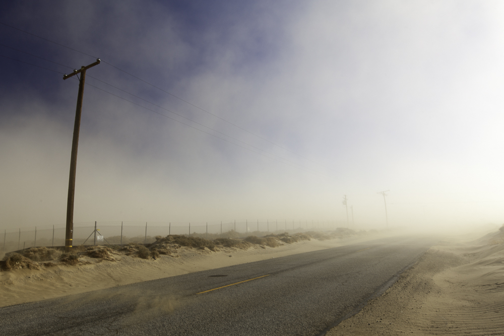 sand storm in California