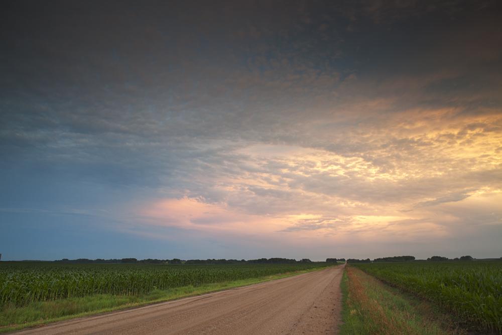 sunset in Eastern Nebraska