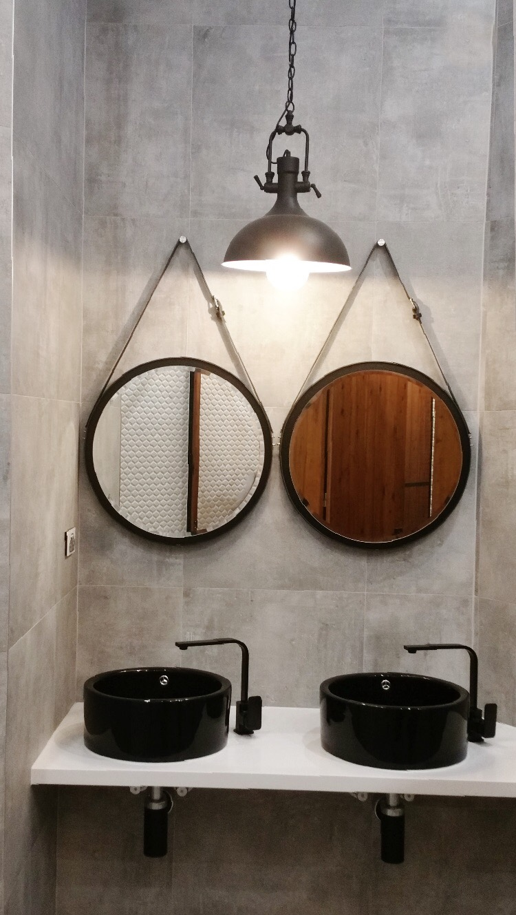 Dual NOBI Mirrors in Black with Silver Hardware and Silver Peg in Australia