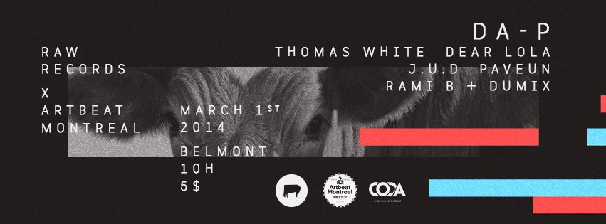 RAW Records x ArtBeat Montreal event