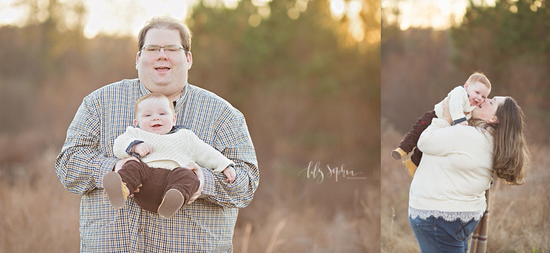 atlanta-photos-baby-family-six-months-outdoors-field-sunset-alpharetta-roswell-photographer