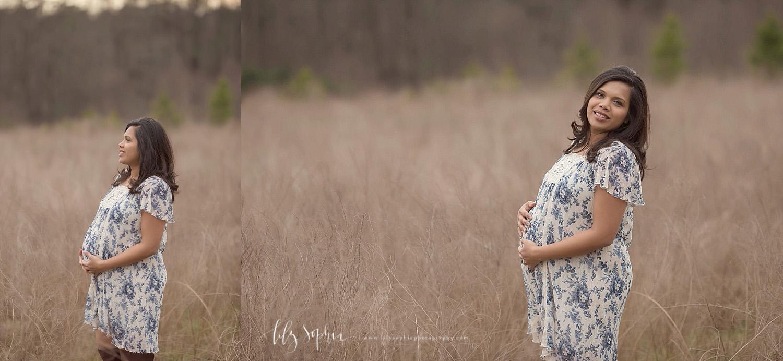 indian-atlanta-maternity-photographer-pregnancy-pics-photoshoot-outdoors-field-natural-light