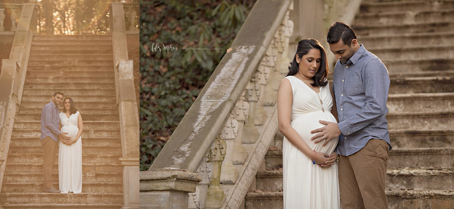 atlanta-maternity-pregnancy-photographer-outdoors-sunset-gardens-indian-couple-baby-girl-grant-park-buckhead-georgia-photography