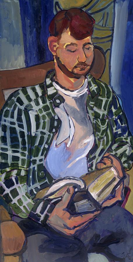 95 Portrait of Artist Husband, 1/25/07, 12:11 PM,  8C, 4387x8815 (1501+322), 125%, copy 4 stops,  1/10 s, R47.5, G33.9, B73.4