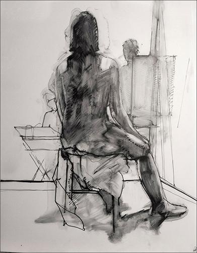 Seated Figure Facing Away