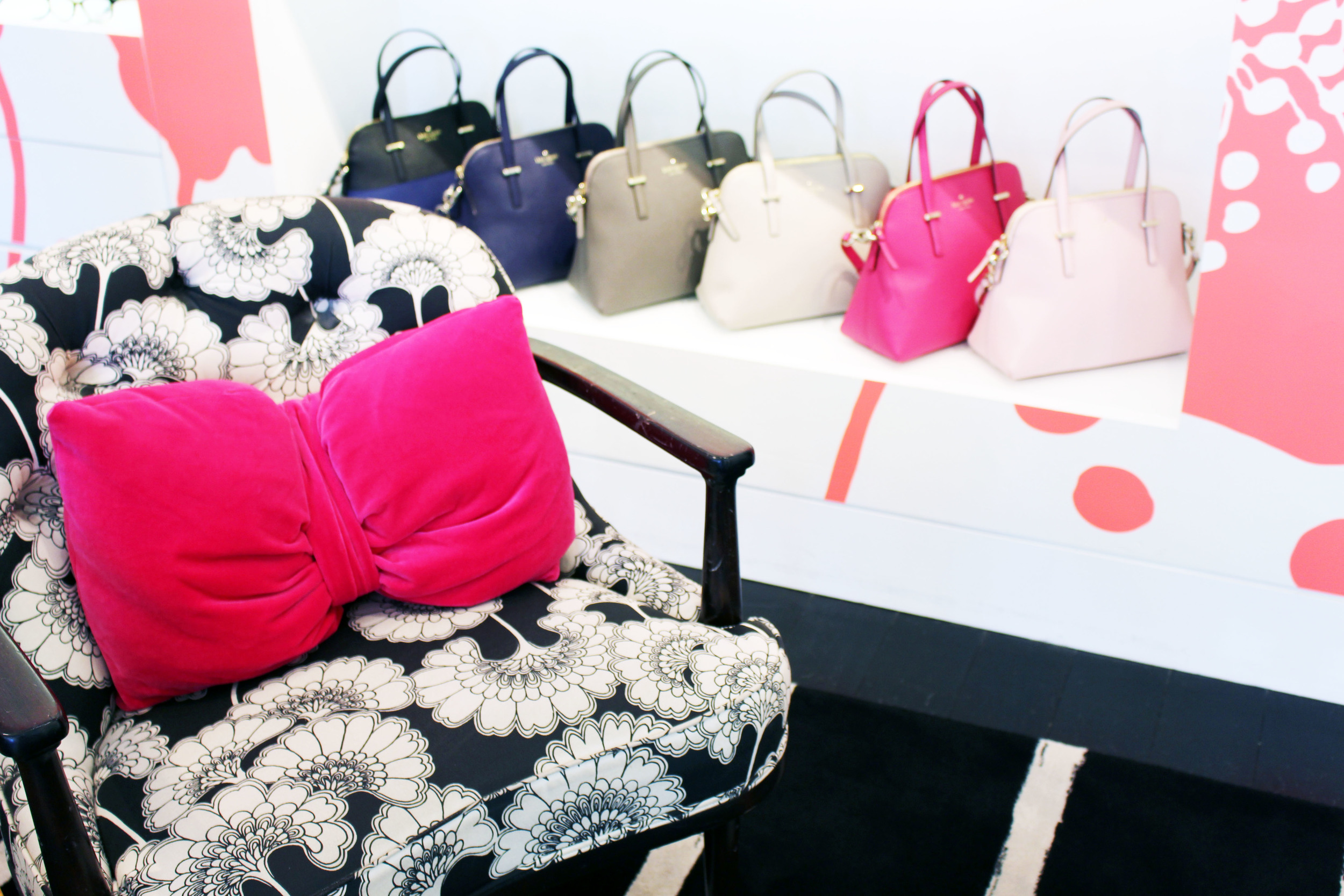 Kate Spade Designer Chair and Purses - Photo Shoot La Jolla