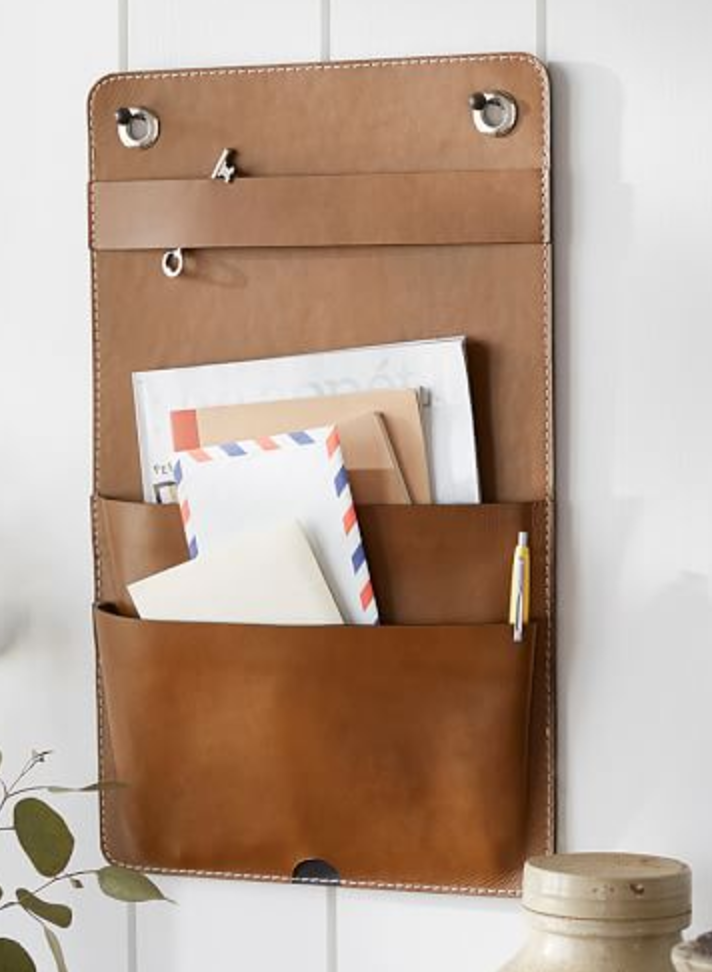 Pottery Barn  / Leather wall Hanging Organizer    SALE: $28.99 / Regular: $49.50