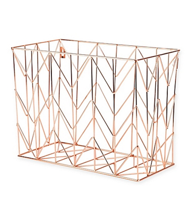 Copper Wire Hanging File Basket  $9.99