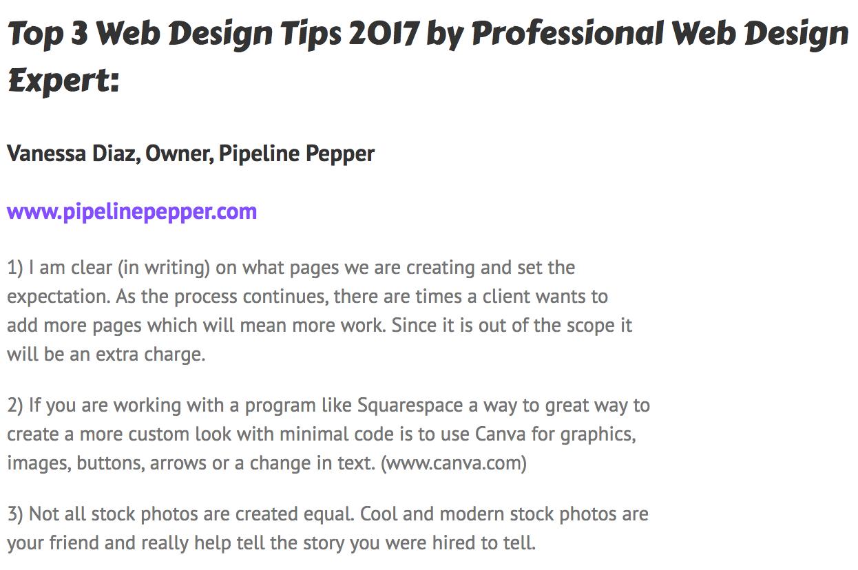 Vanessa Diaz_ Web Deisgn Tips Professional Web Design Expert