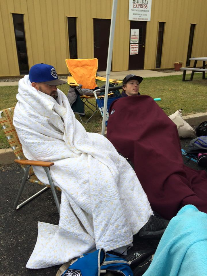 "THIS IS NOT WHAT WE MEAN BY A ""REST DAY"".  Here's two coaches resting between heats at a the competition this past weekend."