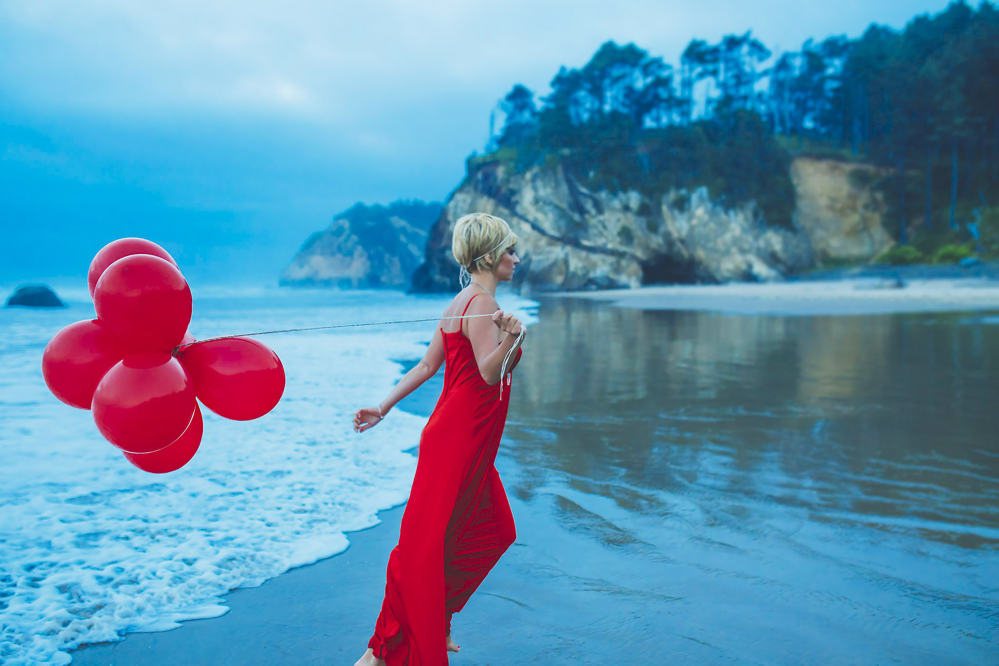 red dress project, oregon coast, jennifer picard photography