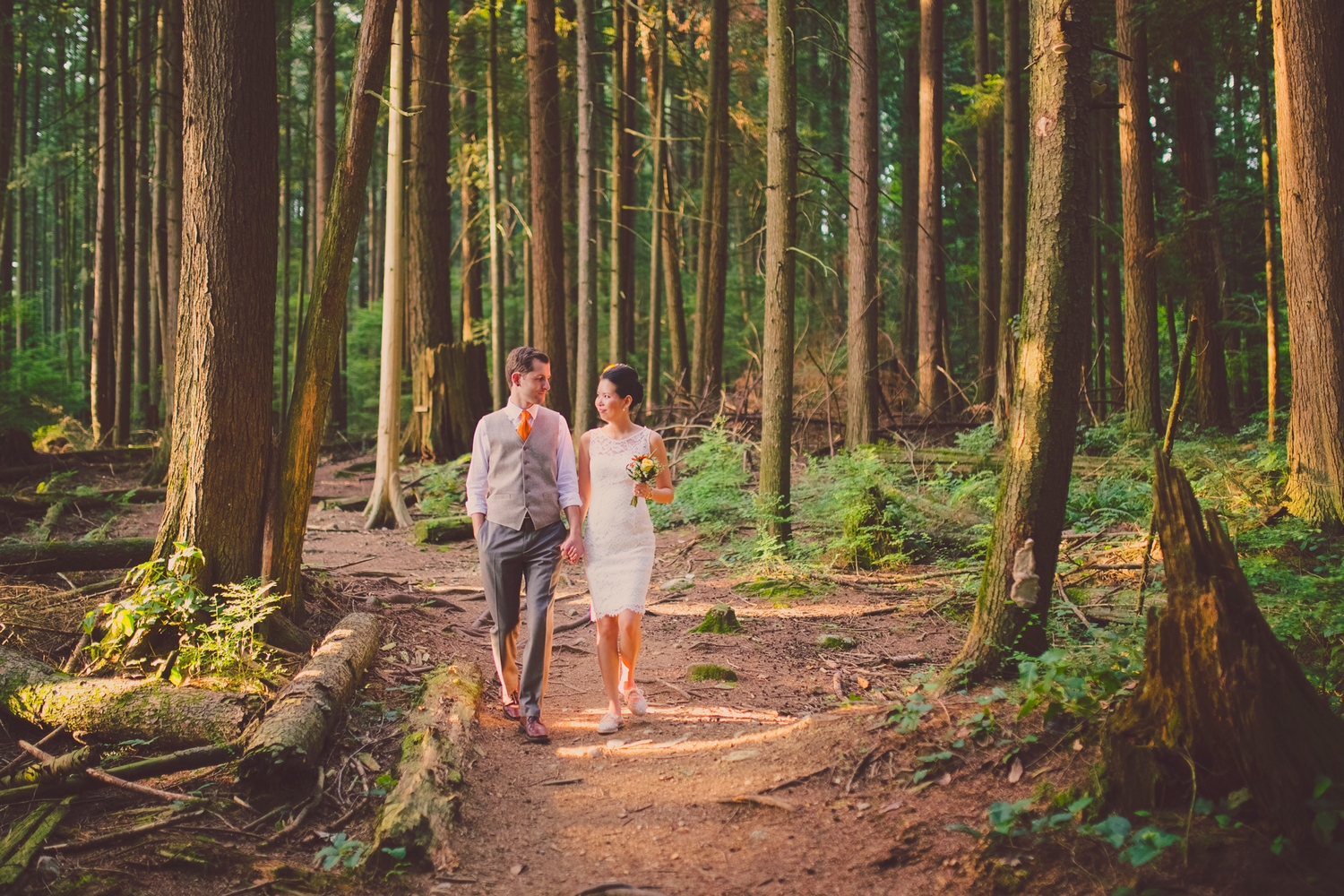 port moody forest wedding, vancouver wedding photographer, jennifer picard photography