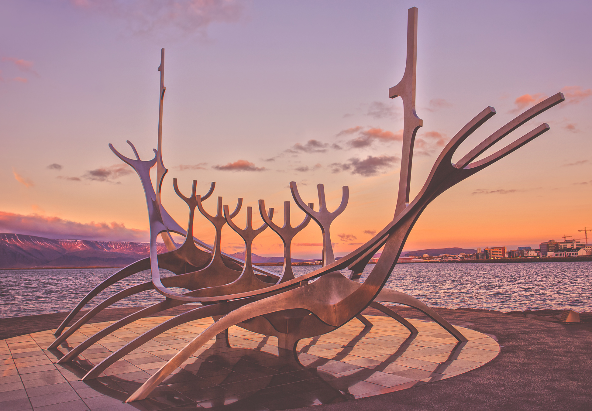 reykjavik sunset, iceland, jennifer picard photography, travel photographer