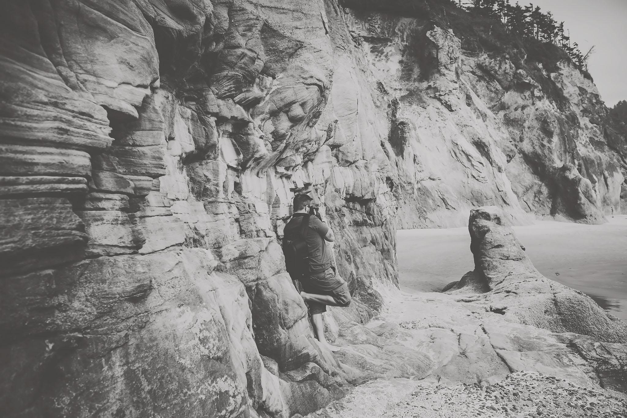 oregon coast, black and white, jennifer picard photography