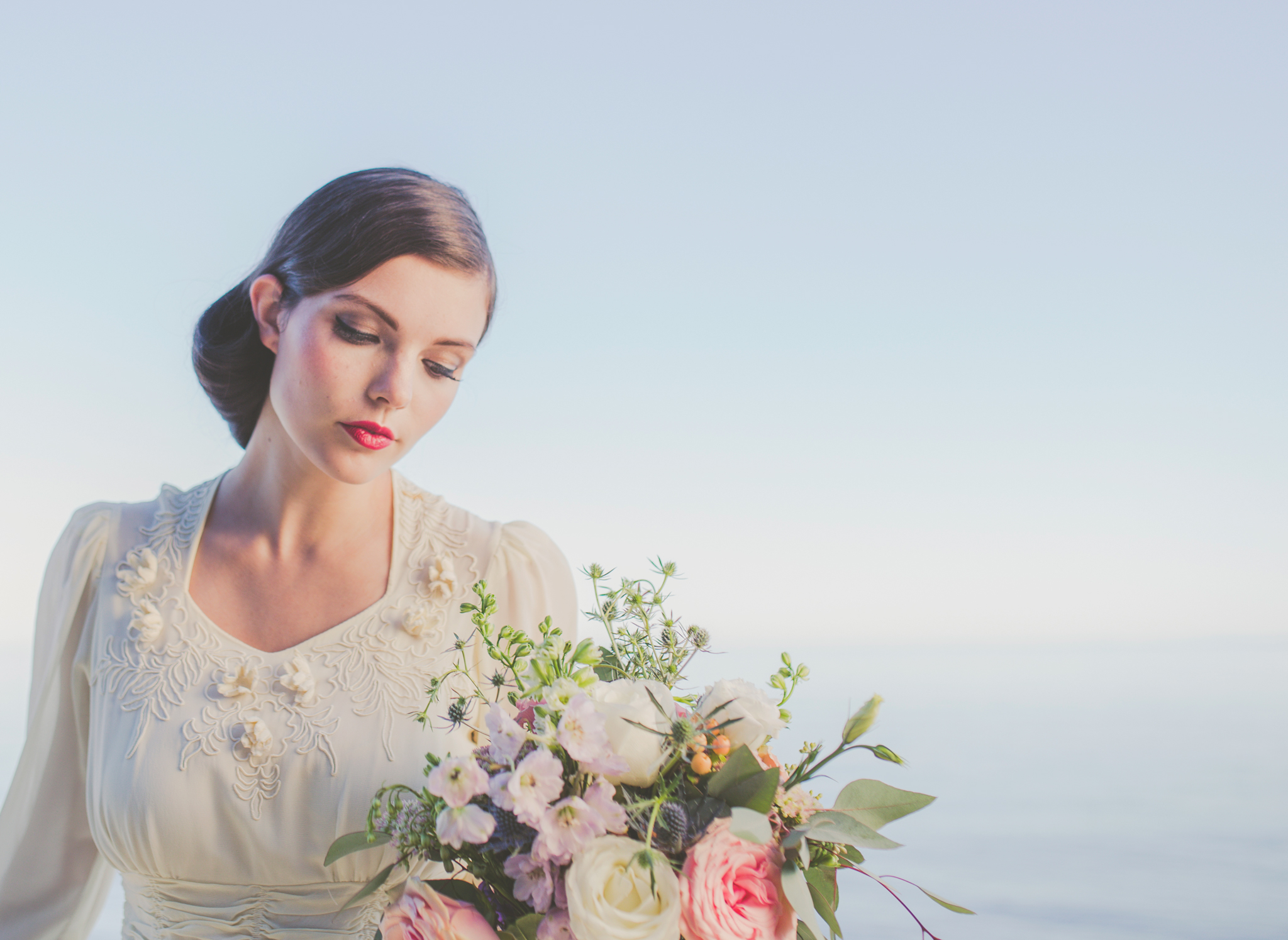 vintage bridal editorial, jennifer picard photography, vancouver wedding photographer